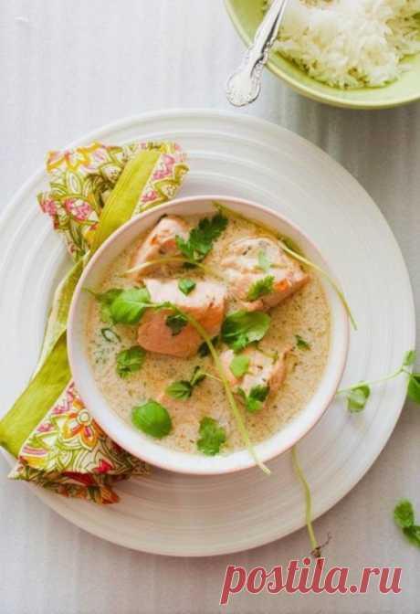 Сырный суп с форелью и грибами — Sloosh – кулинарные рецепты