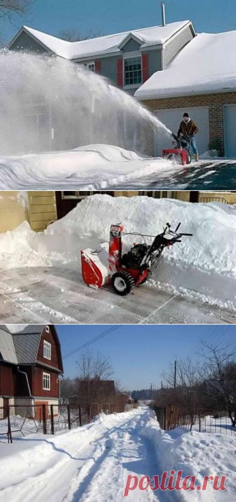 Как очистить дачный участок от снега? | Дача - впрок
