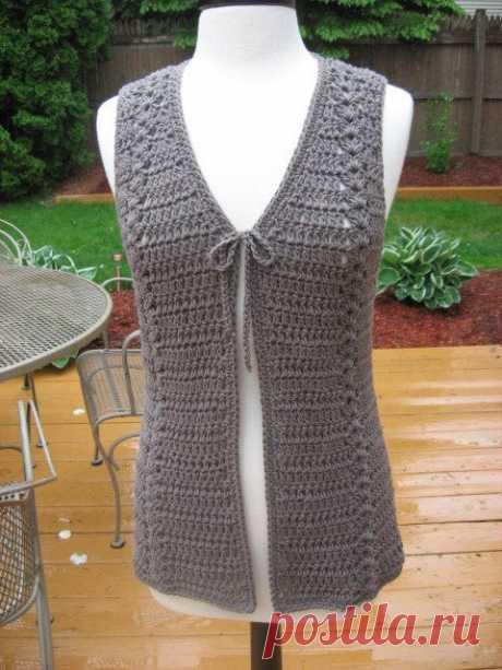 Crochet Pattern Meadows Vest with Matching Belt crochet