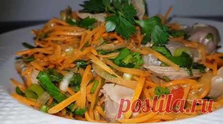 Закуска из куриных желудочков — Sloosh – кулинарные рецепты