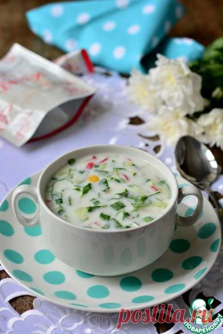 Okroshka on kefir with a sorrel - the culinary recipe