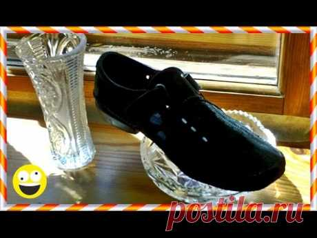 █ Ремонт обуви. СИЛИКОНОМ каблука, подошвы. Не традиционный способ.