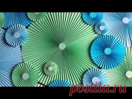 Как сделать бумажный веер d60 cm| How to Make Paper Rosette Flower - Tutorial DIY Paper Crafts