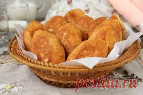 Рецепт жареных пирожков с картофелем и луком «Воздушные»