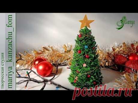 Ёлка своими руками из иранского фоамирана | подарок на новый год  | мк | DIY | Mariya | Christmas