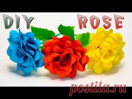 Пышная РОЗА ИЗ БУМАГИ своими руками. Как сделать Розу из Бумаги - YouTube
