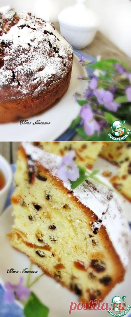 Пирог с сухофруктами и шоколадом от Дж. Оливера - кулинарный рецепт
