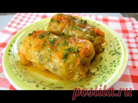 Well very tasty stuffed cabbage from young cabbage!