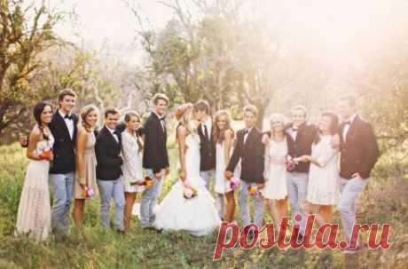 «Свидетели на свадьбе», а может подружки или друзья? Что выбрать? | La amo