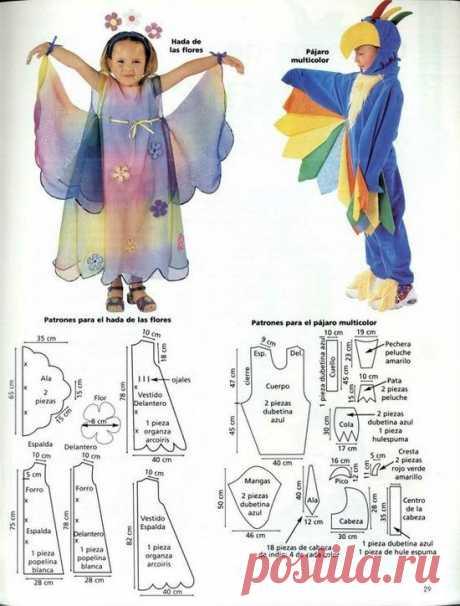 Выкройки детских новогодних костюмов | Дама