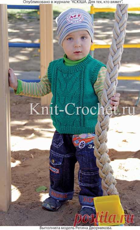 Вязание на спицах малышам кофточка