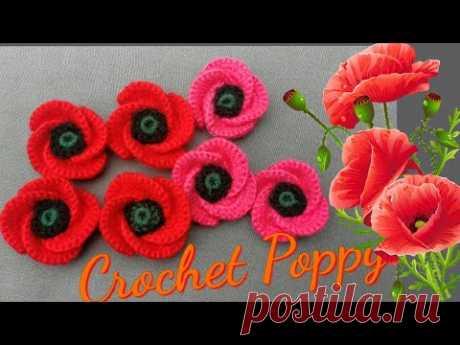 Crochet Tutorial: Crochet Remembrance Poppy Badge