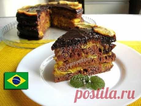 Торт «Бразилия» с апельсиновым конфи - YouTube