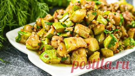 Салат из кабачков за 15 минут