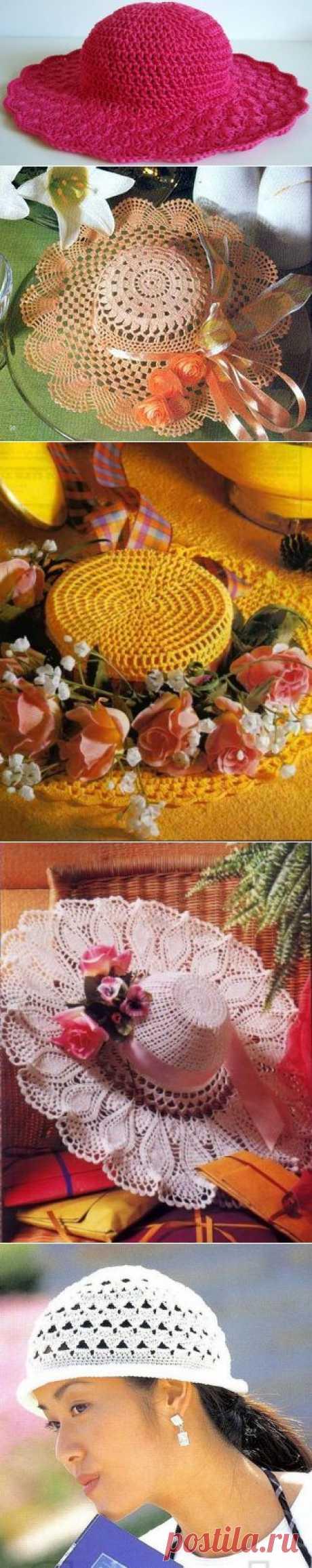Схемы вязания крючком: шляпки ажурные | Ladiesvenue
