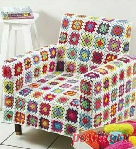 Идеи на тему бабушкиного квадрата. Часть 3 | Easy_crochet_style | Яндекс Дзен