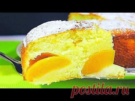Идеальный рецепт к чаю: пышный и нежный пирог с персиками от Натальи Клевер