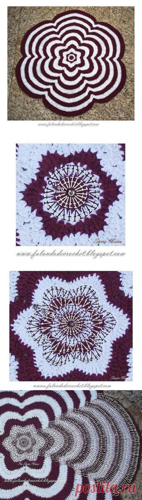 Напольный коврик цветок
