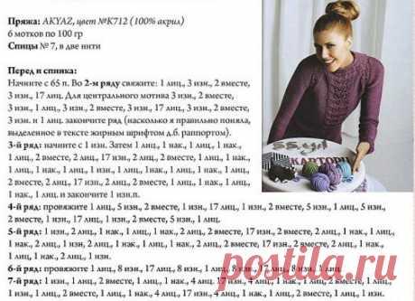 ПУЛОВЕРЫ с ажуром для дам (описание и схемы) | Вяжем интересные проекты | Яндекс Дзен