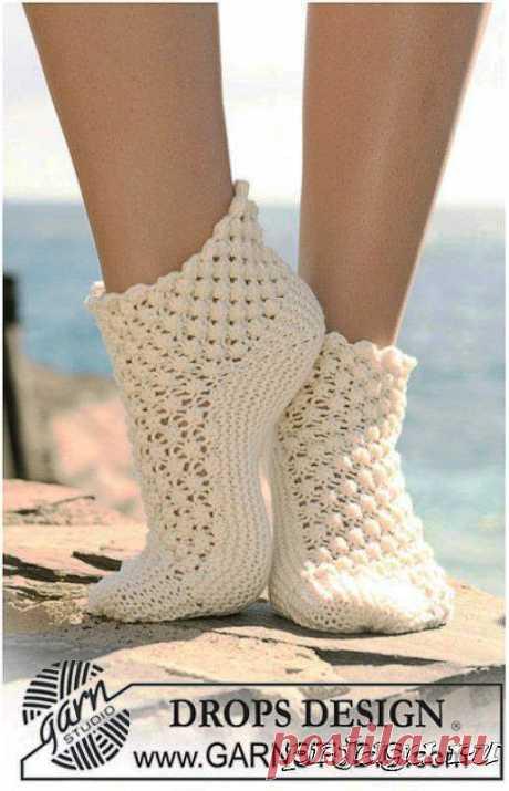 Ажурные носочки спицами, схемы