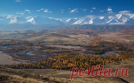 Изгибы Чуи, Горный Алтай. Фотограф – Светлана Казина: