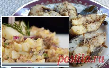 Салат из рыбных консервов, с яйцом