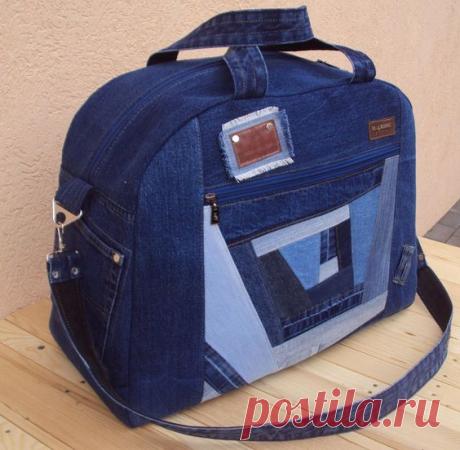 Перерабатывает старые джинсы в дорожные сумки и сумки- шопперы! Идеи, примеры и выкройки!   Юлия Жданова   Яндекс Дзен