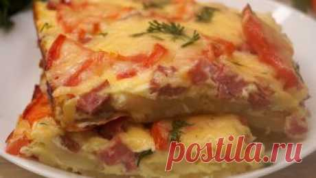 """Dinner quickly """"Хочу добавки"""" \u000d\u000aPotato baked pudding in style of pizza. It turns out tasty and nourishingly, products always available. Will help out when there is a wish what tasty, and there is no time.\u000d\u000aINGREDIENTS\u000d\u000aPotatoes – 400gr.\u000d\u000aBulb – 1 piece.\u000d\u000aO …"""