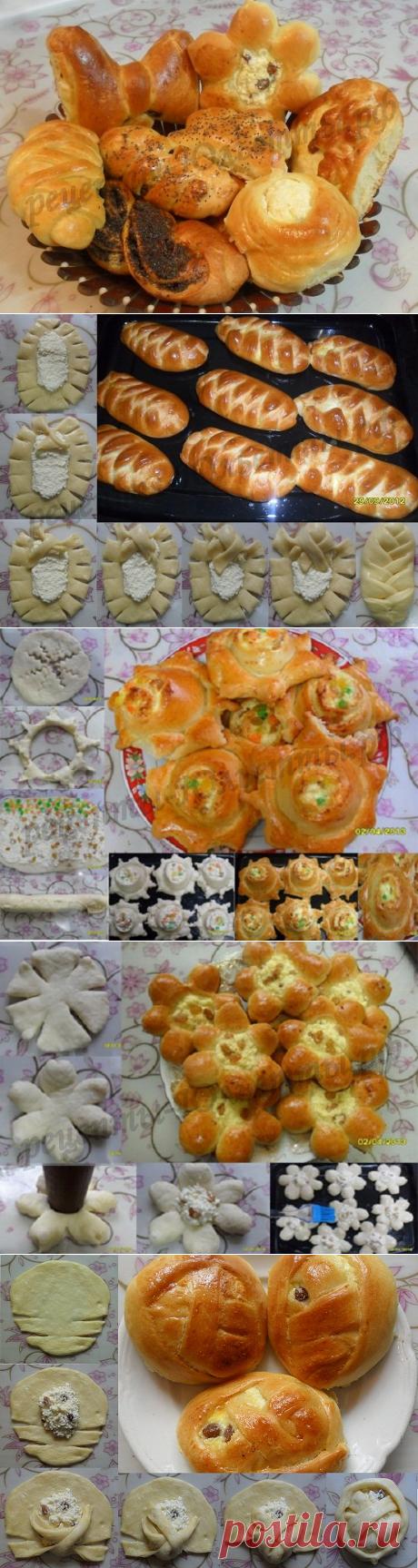 Как красиво сделать булочки из сдобного теста: фото 12 видов булочек!