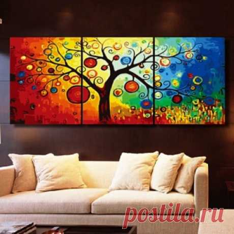 "вАлмазе RU - арт.12830 Алмазная мозаика Триптих ""Дерево фантазий"" [размер 90*45 см.] - 4200 руб. - под заказ"