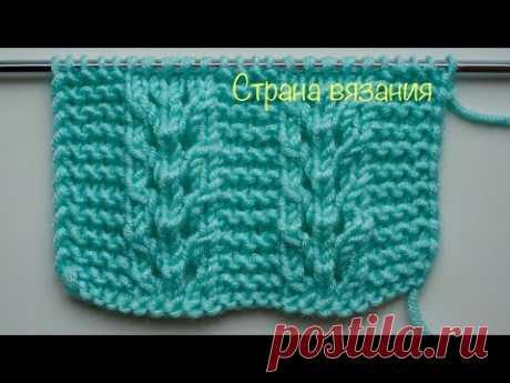 Узоры спицами. Ажурные полосы + платочная вязка. Openwork stripes + garter stitch.