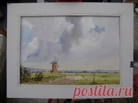 Watercolour  skies with Alan Owen - YouTube