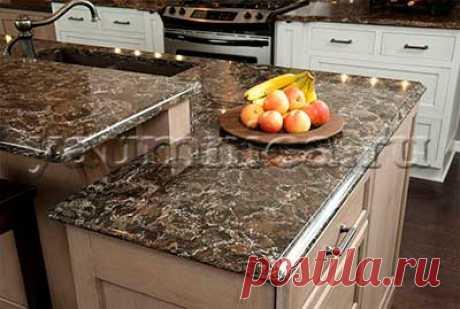 Столешницы для кухни: виды, выбор, кухонная мебель