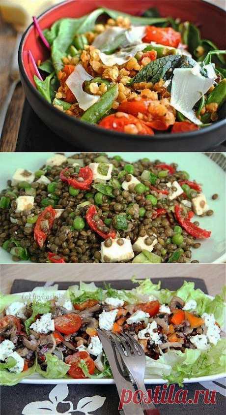 Вкусные и полезные салаты с чечевицей