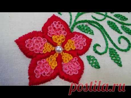 Hand Embroidery: Ring Knot / Challa Work