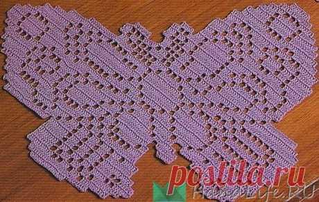 Филейные бабочки, цветы и листья / Вязание крючком