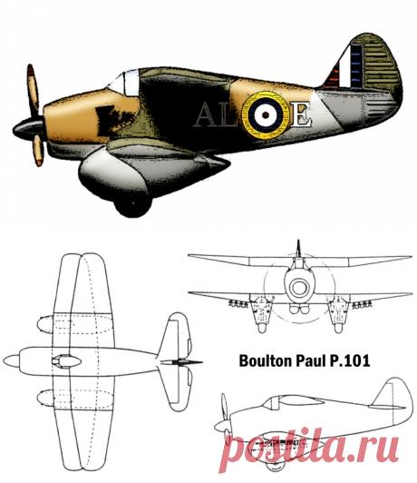 Boulton Paul P.101 — штурмовик-биплан по британски Авиация