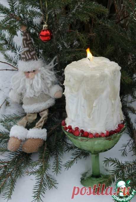 """Новогодний торт """"Свеча"""" – кулинарный рецепт"""