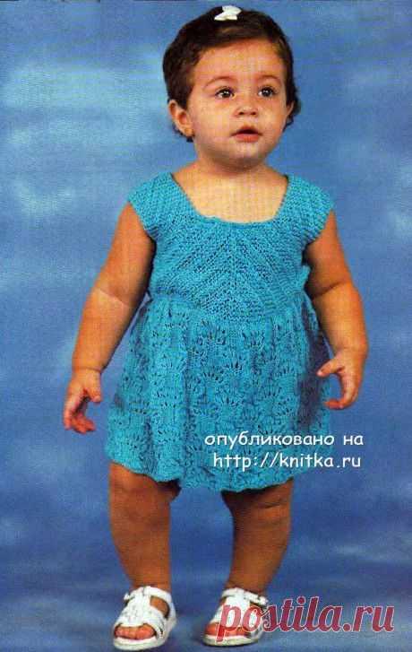 Платье для девочки вязанное спицами, Вязание для детей