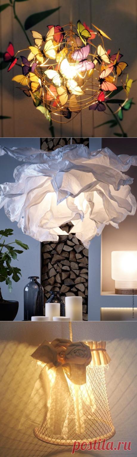 Абажур своими руками: 70 красивых идей для эксклюзивного декора — Roomble.com