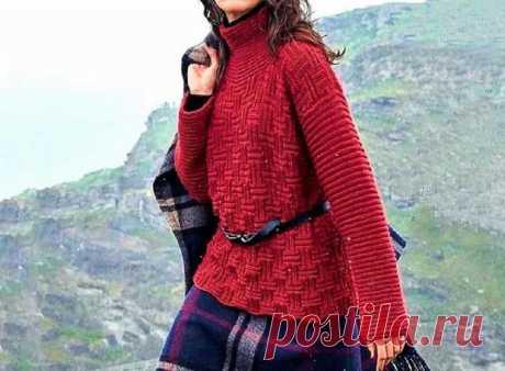 3 шикарных свитера для худеньких и пышных дам (с описанием)   Идеи рукоделия   Яндекс Дзен