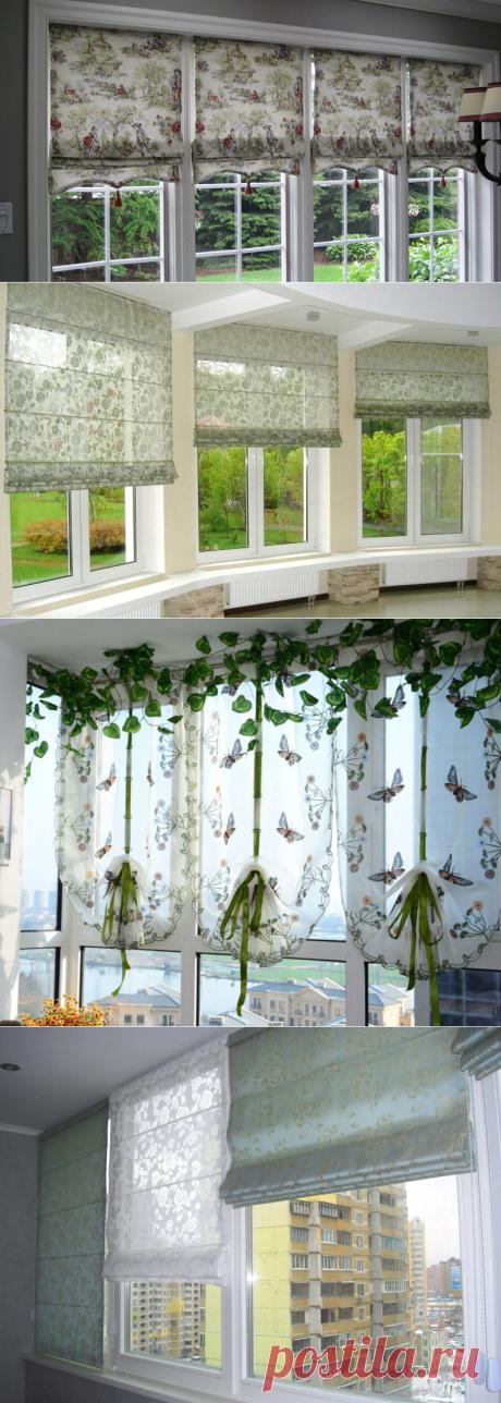 Занавески на балкон - пошаговые инструкции по изготовлению 5 разных вариантов штор!