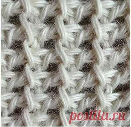 Тунисское вязание - Тунисские узоры - Подборка одноцветных тунисских узоров