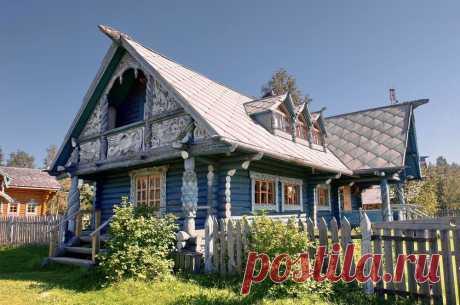Просто мечта — старинные и современные деревянные дома в России, украшенные резьбой