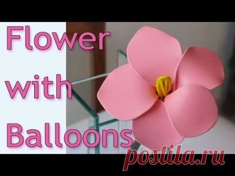 DIY crafts - How to make flowers with balloons Ana | DIY Crafts.