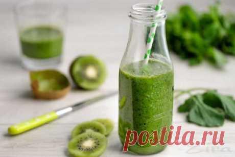 Рецепт зелёного смузи в блендере
