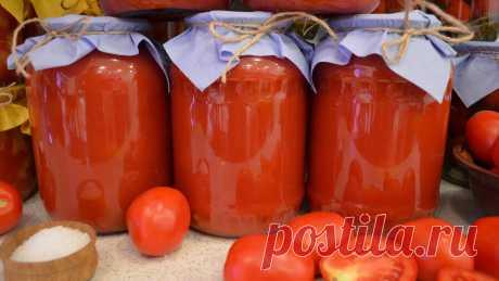 ТОМАТНЫЙ СОК НА ЗИМУ ИНГРЕДИЕНТЫ:ПомидорыСольСахарС одного килограмма томатов получается примерно 1 литр сока.РЕЦЕПТ ПРИГОТОВЛЕНИЯ:Томаты хорошо промываю в воде, затем вырезаю подпорченные места и разрезаю помидоры на кусочки. Складываю нарезанные помидоры в кастрюлю, наливаю на дно немного воды (¼...