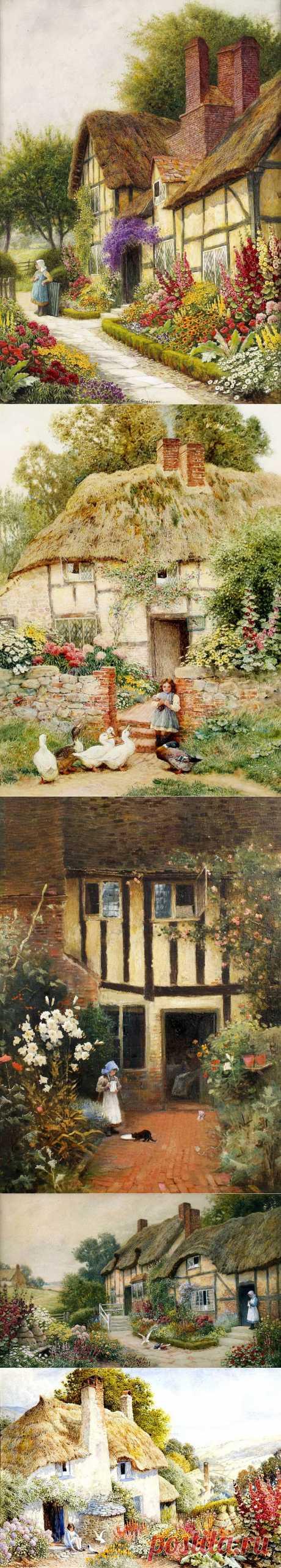 Английский художник Arthur Claude Strachan (1865 - 1938)
