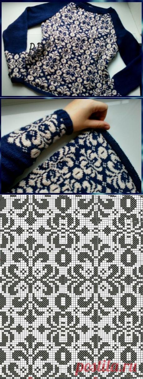 Жаккардовый пуловер от Ксении Максимовой