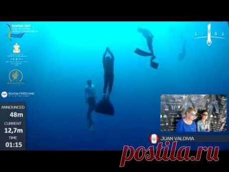 Roatan 2017 AIDA WCH - DAY 4 - Men CWT - YouTube